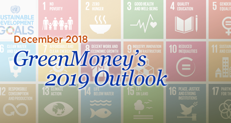 GreenMoney's 2019 Outlook GreenMoney Journal December 2018